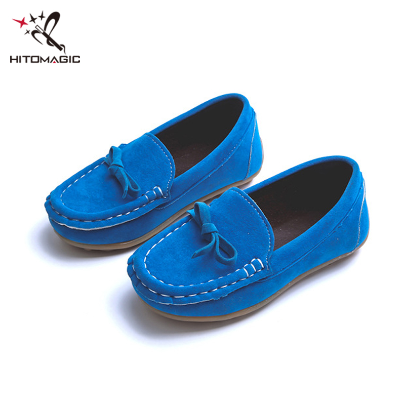 HITOMAGIC Shoes For Girls Children Footwear Sneakers For Boys Casual Peas Shoe Bowtie Breathable Kids Childrens Shoes For Boys