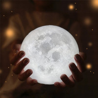 HOT 3D USB LED Magical Moon Night Light Moonlight Table Desk Moon Lamp Gift