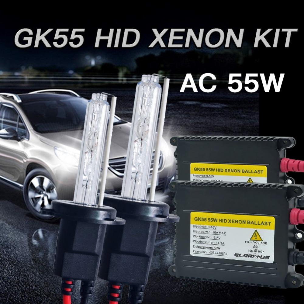 55W D2S Xenon bulb kit H1 H3 H4 H7 H11 9005 9006 881 HID Xenon Lamp