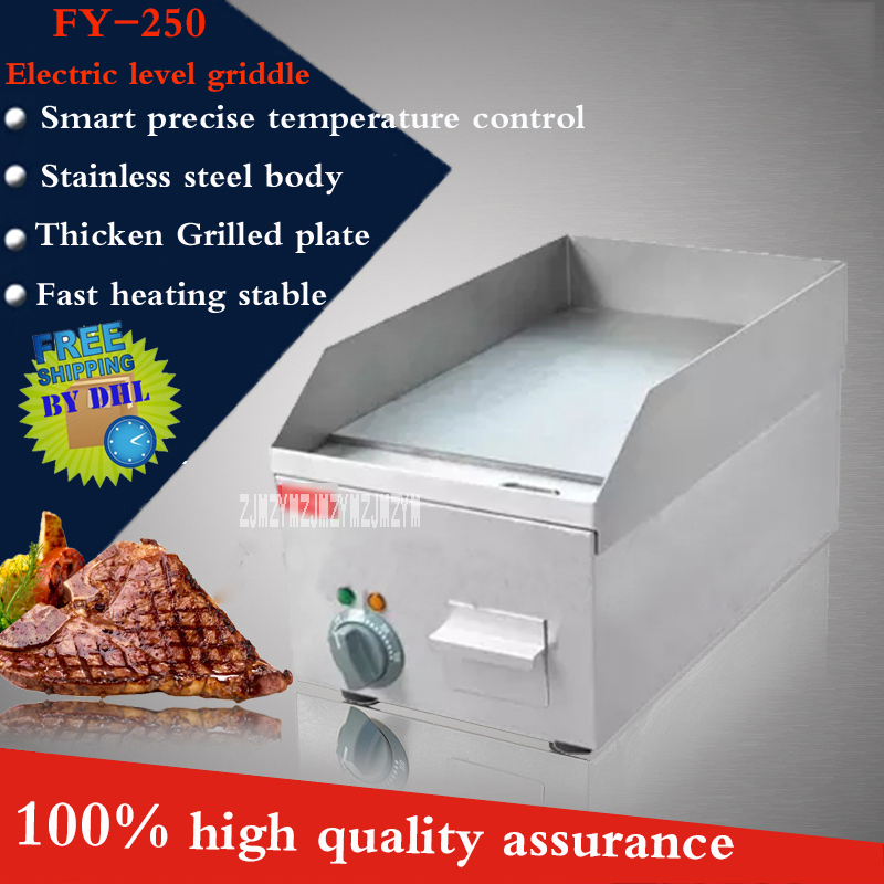 FY-250 Commercial Stainless steel Electric Griddle double plate precise temperature control 50''-300'' 220V/2000W