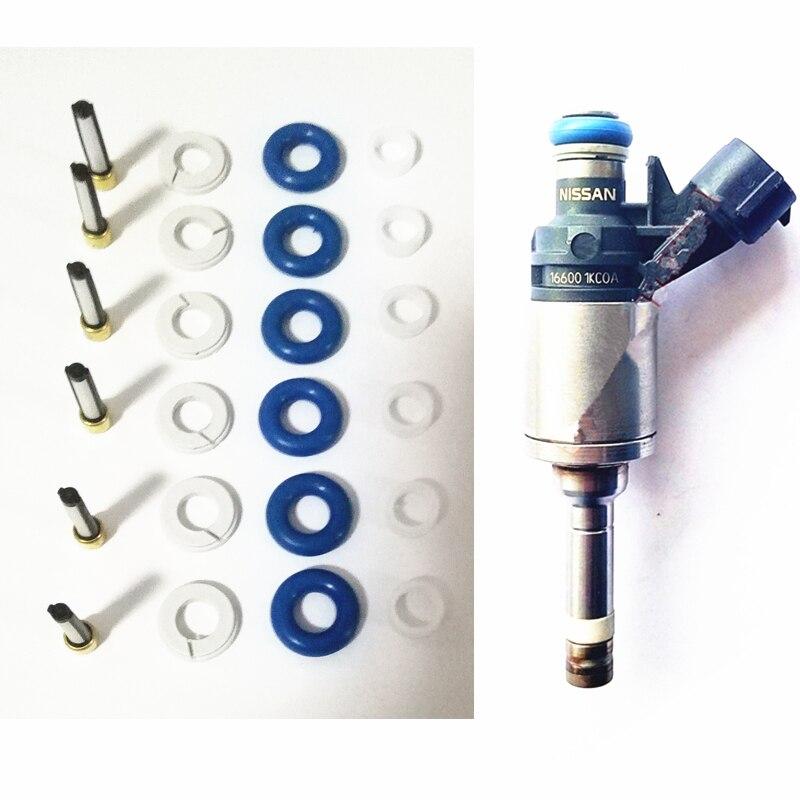 100 satz GDI einspritzventil-reparatursatz für Nissan Juke 2011-2013 1.6L ersatzfilter o-ringe und dichtungen (AY-RK904)