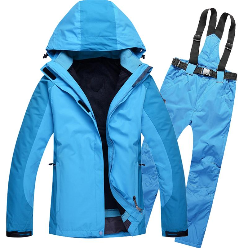 Women Snowboarding jacket and pant sets Waterproof Windproof Woman Snow Sports Clothing Climbing Hiking Mountaineering Clothes цена
