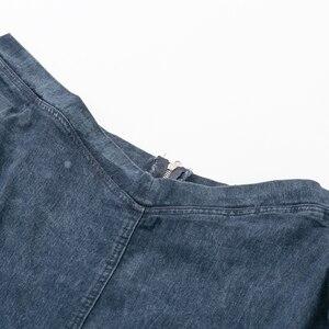 Image 2 - Conmoto סקסי כבוי כתף ג ינס שמלת נשים 2019 חורף ארוך שרוולים מזדמן קצר רזה מיני שמלת Bodycon Vestidos