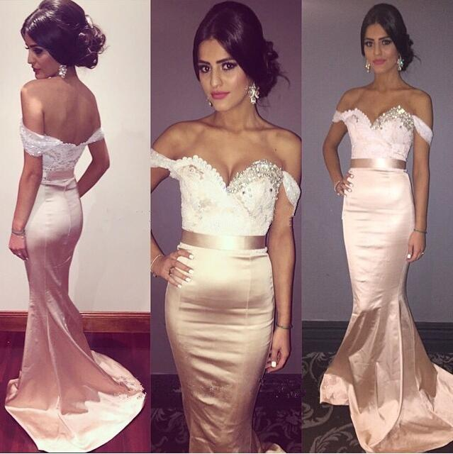 Mermaid   Prom     Dresses   Sweetheart Sleeveless Backless Sweep Train Satin and Crystal Ribbons 2017 Party   Dresses
