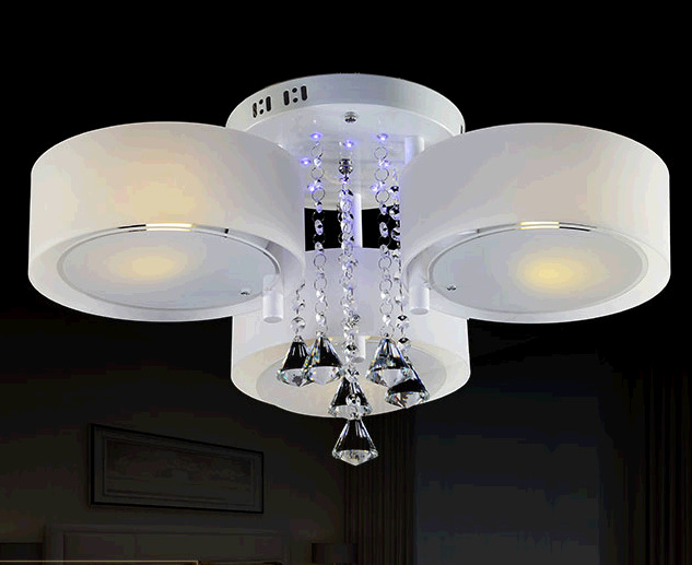 Led Living Room Crystal Lamp Ceiling Light Lighting Fitting Ipl Modern Remote Control BriefChina