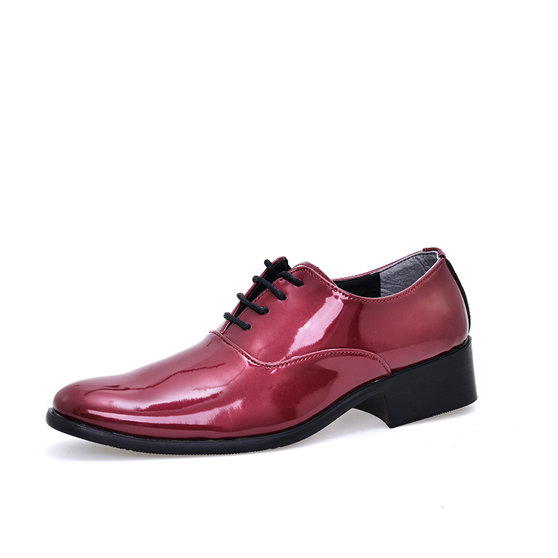 cheap man wedding shoes solid orange red blue color mens ...