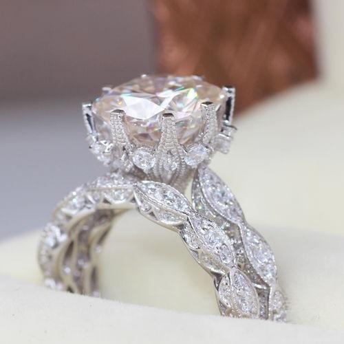 Женский набор колец из серебра 925 пробы обручальное кольцо