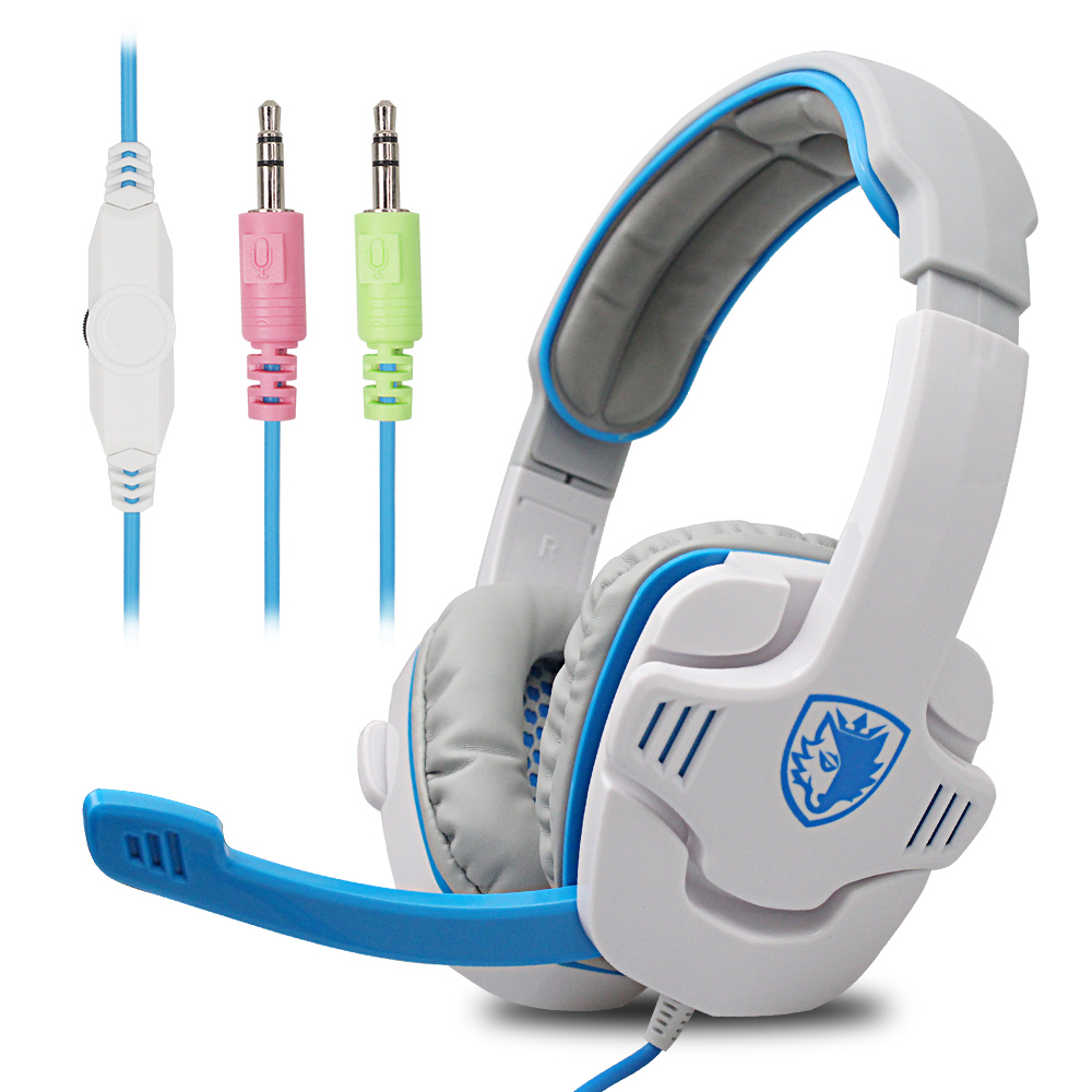 Original SA-708 Wired Gaming Headphone Super Surround Stereo Bass Noise-Cancelling Headband Earphone With Microphone For PC Game