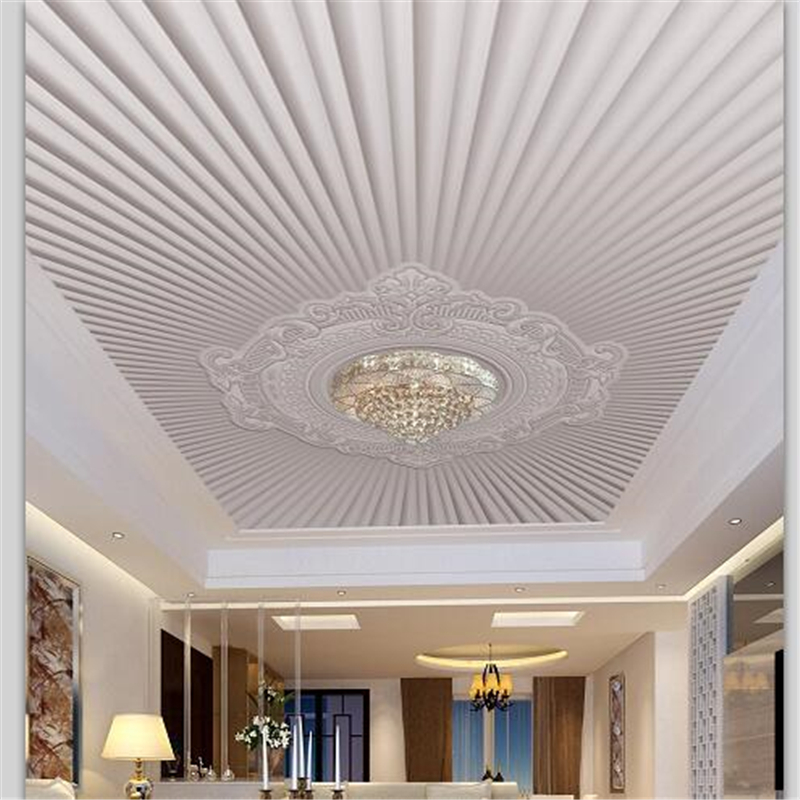 Beibehang Custom Wallpaper 3d Modern Simple European Embossed Pattern Ceiling Roof Fresco 3d Wallpaper Papel De Parede Wallpaper