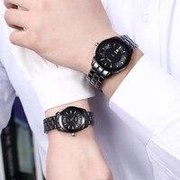 DALISH Brand Ceramic Quartz Watch Fashion Couple Watches Male Business Dress Wristwatch Ladies Calendar Clock Zegarki Damskie