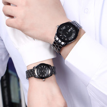 DALISH бренд Керамика кварцевые часы Мода пару часов Мужской платье в деловом стиле наручные женские часы, календарь Zegarki Damskie