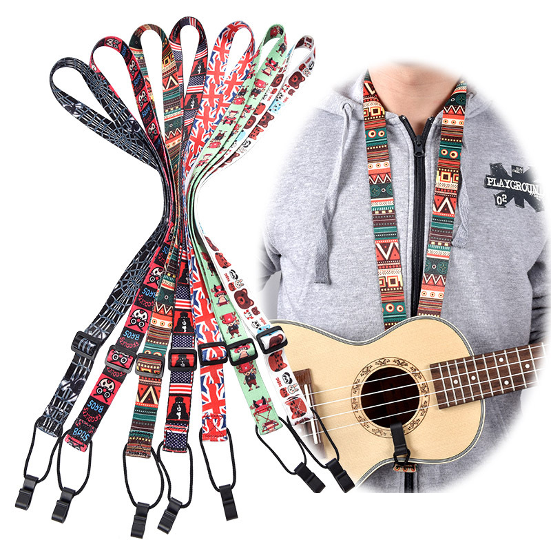 Adjustable Classical Nylon Ukulele Strap Sling Colorful With Hook For Ukulele Guitar Accessories xz 788 adjustable footrest for classical guitar black