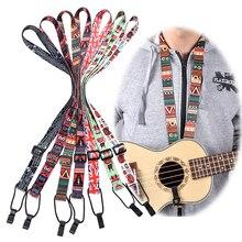 Adjustable Classical Nylon Ukulele Strap Sling Colorful With Hook For Ukulele Guitar Accessories
