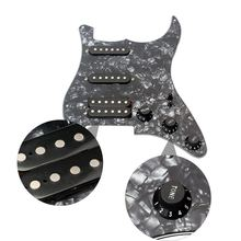 3-ply SSH Loaded Prewired Pickguard Humbucker Pickups Set para Guitarra Elétrica Preta Pérola(China)