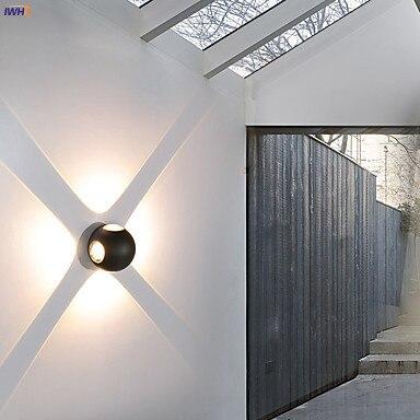 dwaterproof água jardim varanda luzes da parede exterior luminária luz fora