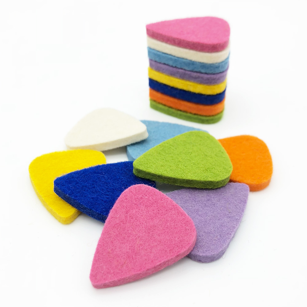 SLOZZ Ukulele Pick Colorful Soft Felt Plectrum Mediator Ukulele Accessories For Concert Soprano Tenor 21 23 26