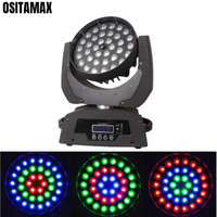 free shipping RGBW 36X10W Moving Head Zoom Light 4IN1 DMX Zoom Moving Head Stage Light Disco Club Wedding Lights
