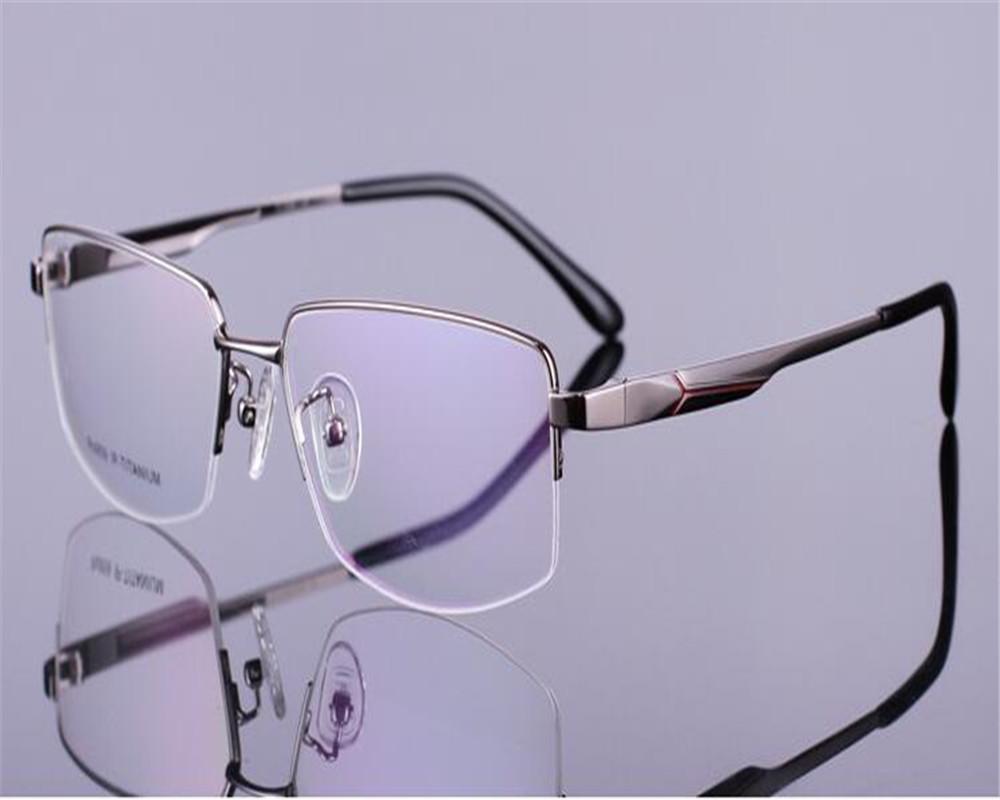 d99dab06a8 DOWER ME Myopia Eyeglass Brand Design Business Half Rim Men Clear Lens for Reading  Optical Vision Eyewear RS959