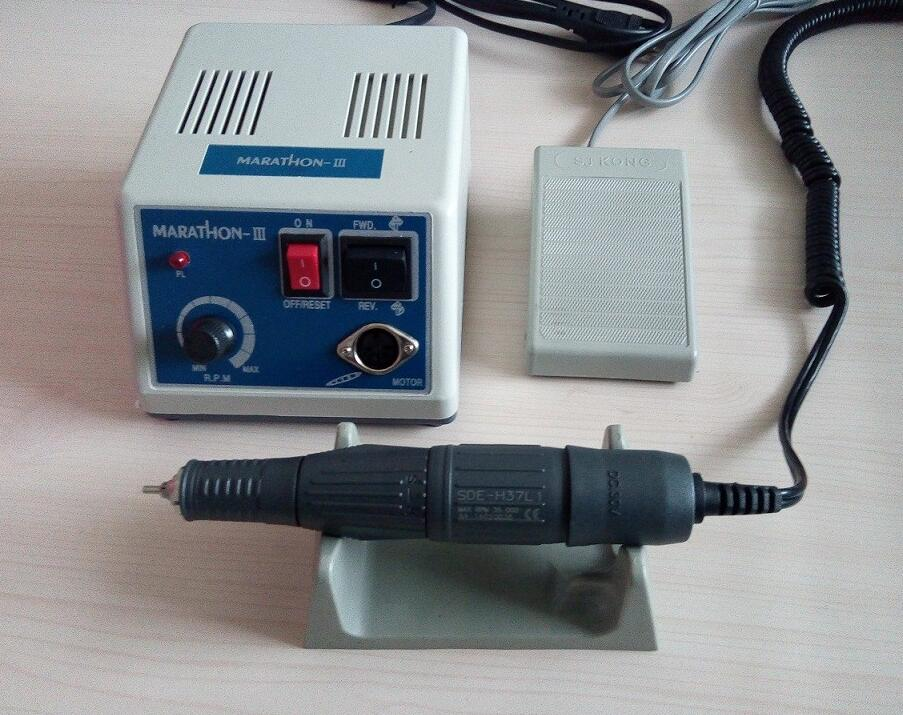 Dental Lab Marathon Micro Motor Polishing Machine N3 &35K RPM Electric Motor Handpiece dental lab marathon micromotor machine n3 35k rpm electric motor gold
