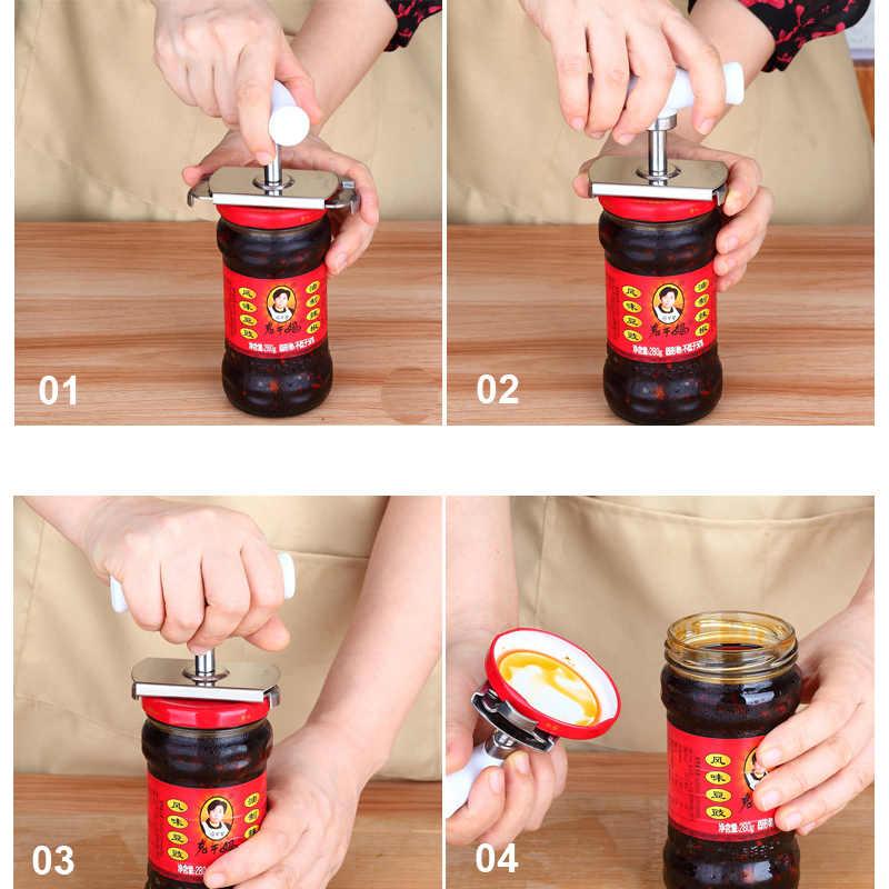 Abridor de garrafa abridor de garrafa abridor de lata manual de aço inoxidável ajustável