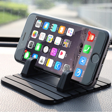 Car Phone Holder Soft Silicone Mobile Phone Mount Stands Bracket Support Gps For iPhone 5 6 6s Plus Samsung Phone Holder