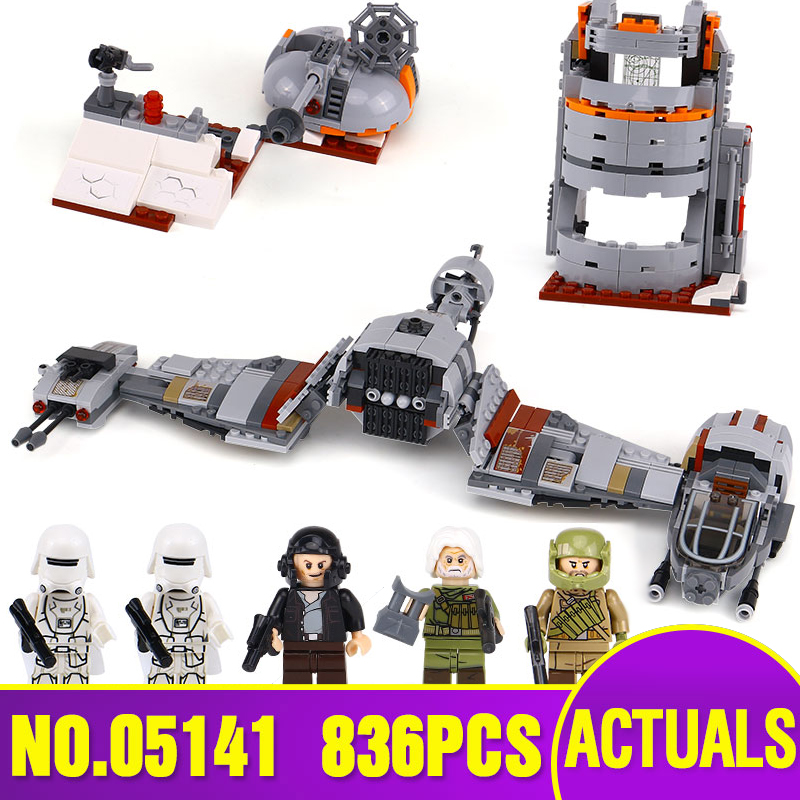 Lepin 05141 New 836Pcs Star Plan Series The Defense Of Crait Set 75202 Building Blocks Bricks Educational Toys For Kids As Gifts