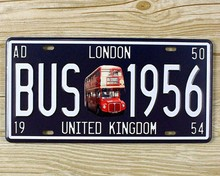 New GERMANY CAR License Plate metal painting tin sign vintage plaques wall home decor iron bar coffee retro tin poster 15*30cm