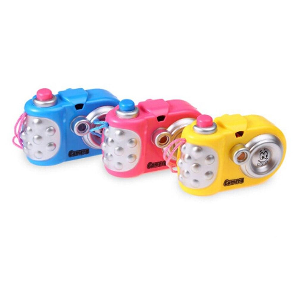 Color Random 2017 Cartoon Camera Toy Cartoon Projection Nursery Toys Children Educational Toys Baby Gift