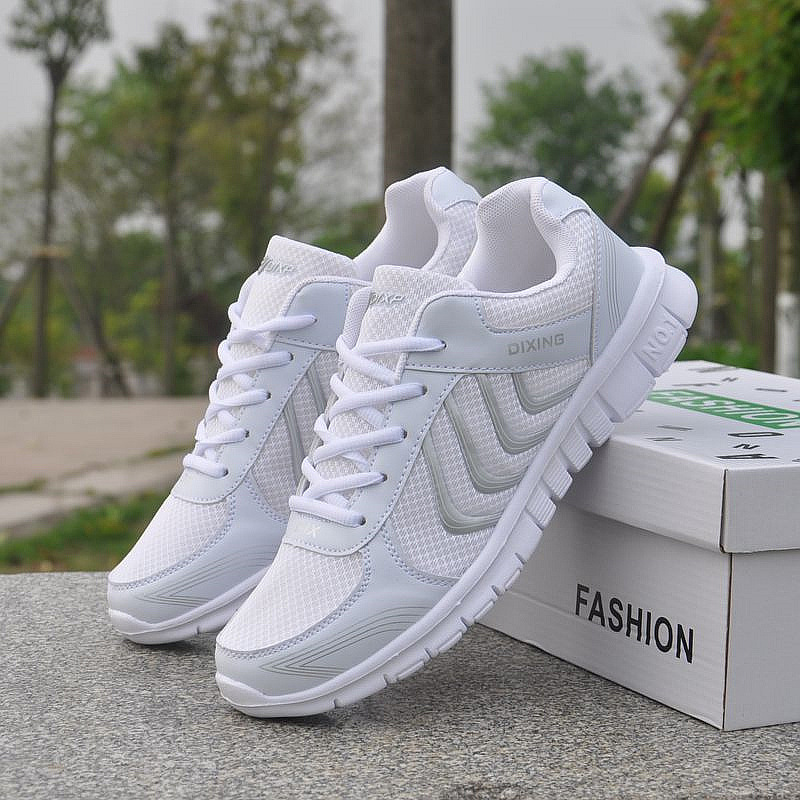 2019 Spring New Platform Sneakers Women Shoes Casual Air Mesh Female Flats Shoes For Woman