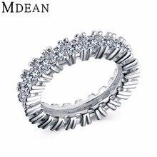 MDEAN Oro Blanco Plateado para las mujeres anillos de boda anillo de Compromiso Bague bijoux anillo vintage mujer de los anillos Accesorios de moda MSR378