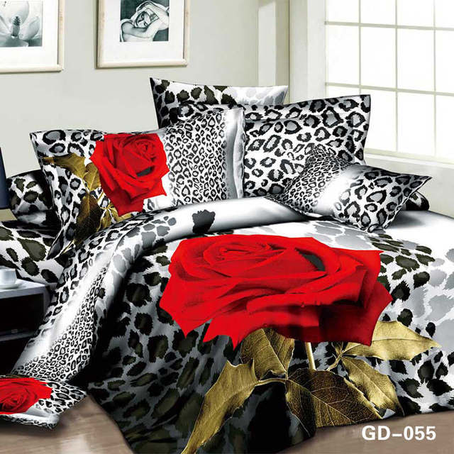 sexy red rose flower bedding sets full queen cal king size