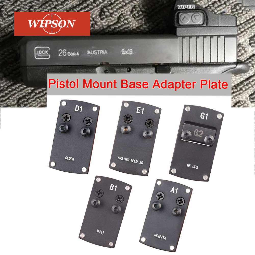 WIPSON glock Colt 1911 Berreta Sightmark HK USP Springfield XD Micro Reflex Red Dot Sight Pistol Mount Base Adapter Plate vector optics sphinx red dot sight with pistol rear mount for glock 17 19 sig sauer beretta springfield xd s
