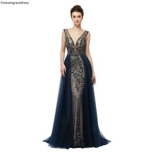 Forevergracedress Luxury Navy Blue Evening Dresses 2019