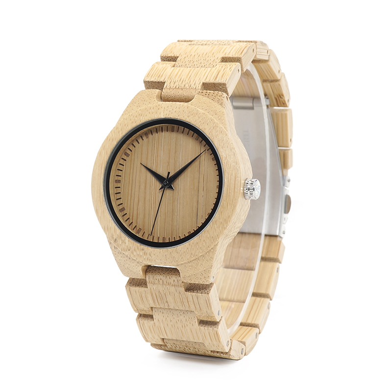 2017 BOBO BIRD Newest Natural Full Bamboo Watch Women 2035 Quartz Movement Wristwatch with Paper Gift Box B-L28 bobo bird brand new sun glasses men square wood oversized zebra wood sunglasses women with wooden box oculos 2017