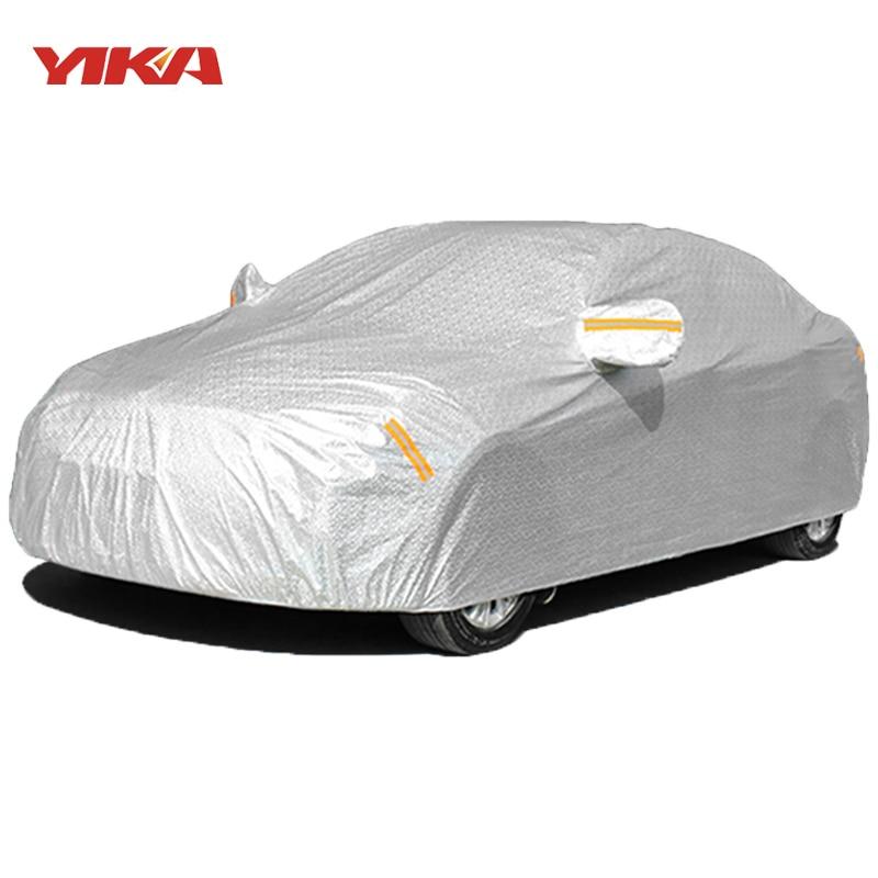 Vuoden 2017 laadukas universaali vedenpitävä paksuuntuva suojakuori autolle aurinkosuojalla. Lumensuojaus Pölynkestävä sateenkestävä täysi auton suojakuori