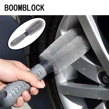 Car Clean Hub Brushes Stickers For Subaru Forester XV Impreza outback Jeep Renegade Wrangler Lada granta Car-Styling Accessories image