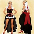 New hot sale sexy Queen of Hearts costume women adult fantasy Alice In Wonderland party cosplay fancy costume