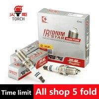 4pcs Lot China Original TORCH Double Iridium Spark Plugs K6EII For HAIMA3 HAIMA7 M3 S5 S7