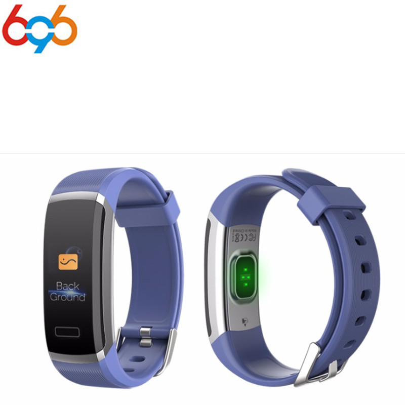 GT101 Color Screen Smart Bracelet Waterproof 24 hours Heart Rate Monitor Fitness Tracker Bluetooth Smart Band for Sport