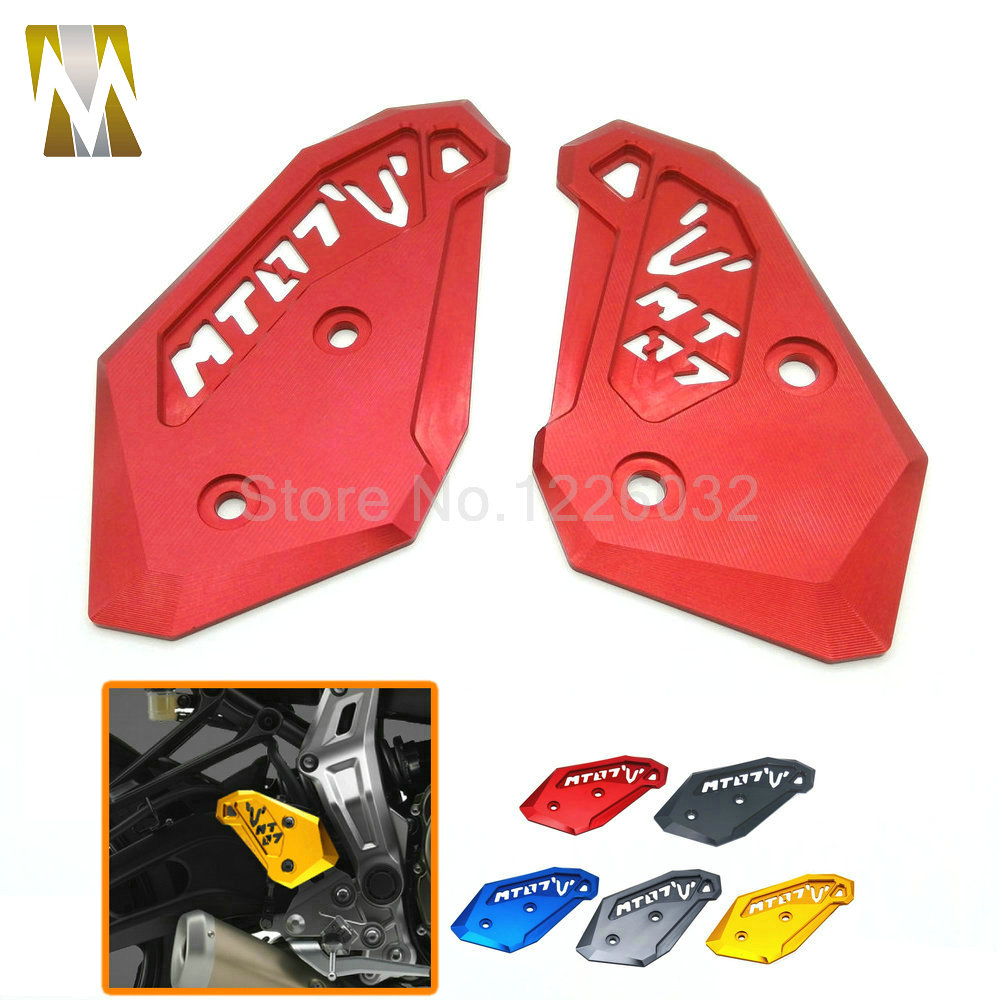 2017 High Quality Motorcycle CNC Rearset Foot Peg Mount Heel Plates Guard Protector For Yamaha MT-07 2014 2015 MT072017 High Quality Motorcycle CNC Rearset Foot Peg Mount Heel Plates Guard Protector For Yamaha MT-07 2014 2015 MT07