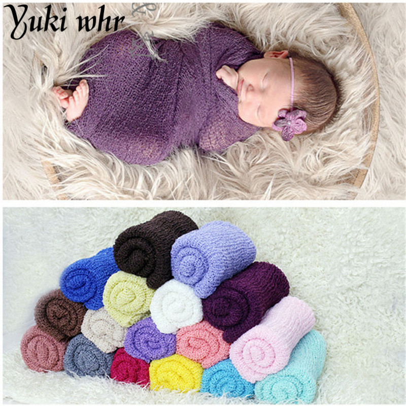 35 Accessories 150cm Baby Photography Props Blanket Rayon Wrapped Stretch Knit Wrapped Newborn Photo Package Hammock Package Convenient To Cook