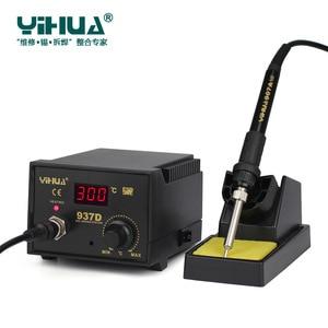 Image 2 - 220 v/110 v 50 ワット温度制御 esd デジタルはんだステーション/リワークステーション一華 937D eu/米国のプラグイン