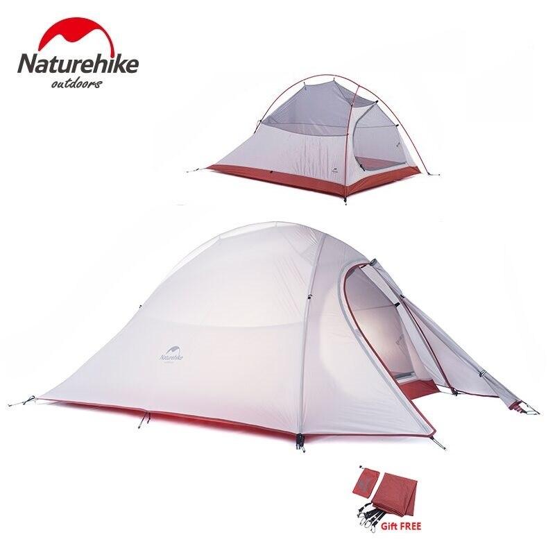 Nature randonnée nuage Up série 1 2 3 personnes tente ultra-légère 20D Silicone Double couche tente de Camping avec équipement de Camp Mat