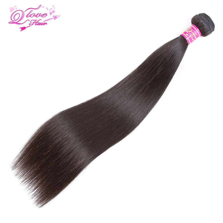 Queen Love Hair 1 Pcs 8-26 Inch 100% Human Hair Weave Malaysian Natural Color Straight Hair Bundles Non Remy Natural Color