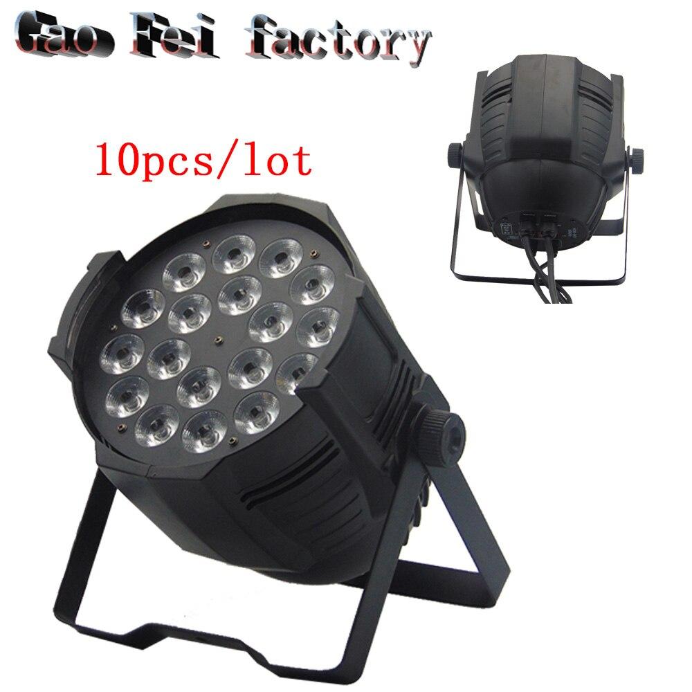 10pcs/lot LED PAR 18x12w 180watt RGBW 64 Quad Par Light DJ Stage Lighting chauvet dj slim par quad 3 irc