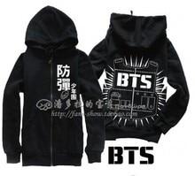 2016 Bts bangtan boys sweatshirt a.r.m. y bts logo hoodie sweatshirt a Bulletproof teenager Black+ White S.M.L.XL.XXL