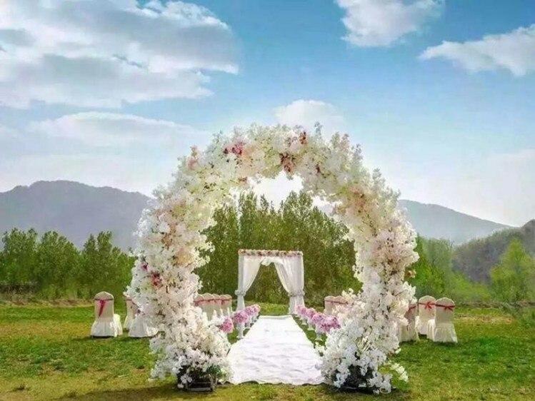 1 метр длинная искусственная симуляция вишни цветок букет Свадебный Арка украшение гирлянда домашний Декор 5 цветов в наличии
