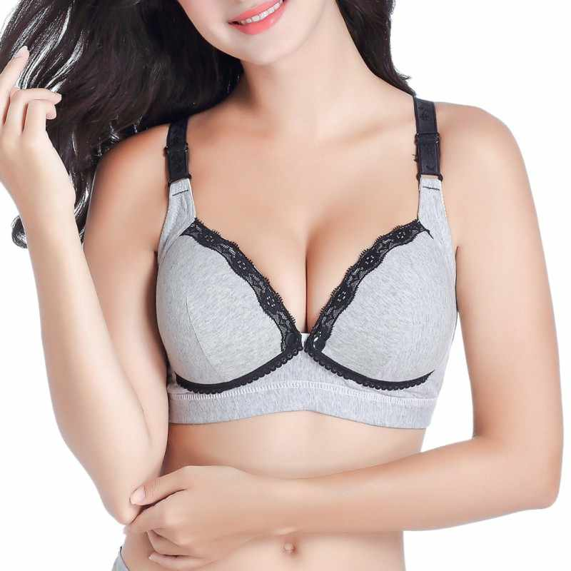 c7fd9f389a Light Color Women Padded Bras Ladies Breastfeeding Feeding Maternity  Nursing Bra Pregnant Lace Push Up Bras