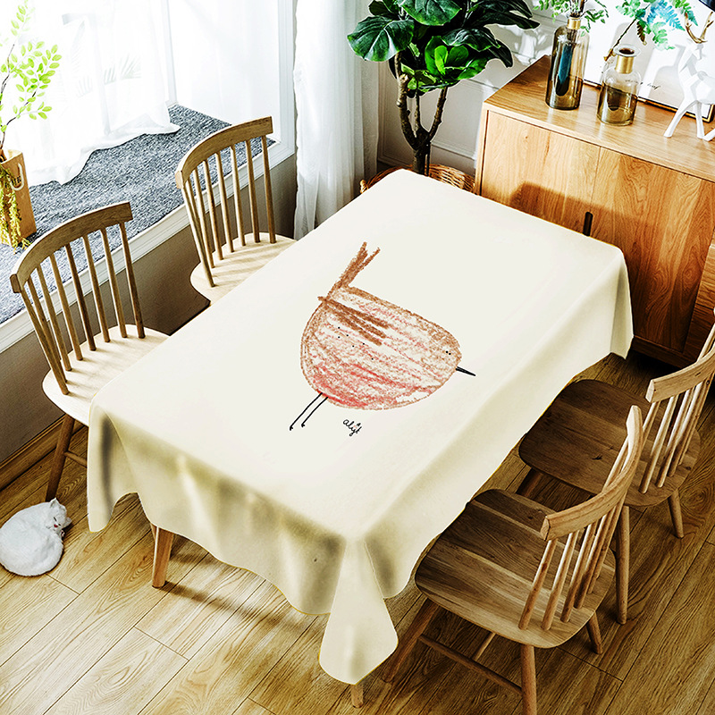 Table Cloth digital printing polyester rectangular waterproof dining table kitchen home decoration Elegant table cloth150x210cm