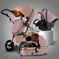 Baby trolleys  Stroller stroller high landscape can sit or lie shock deck baby stroller free shipping